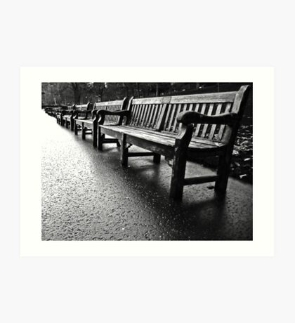 Benches to infinity Art Print