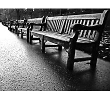 Benches to infinity Photographic Print