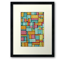 Pojagi, Korean Patchwork, Fiber Arts Framed Print