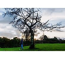 The lonely Boy looking for his Love under the Sunset Photographic Print