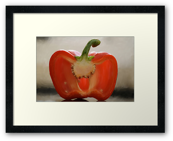 Backlit Pepper by Lois  Bryan