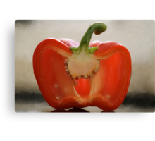 Backlit Pepper Canvas Print