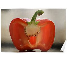 Backlit Pepper Poster