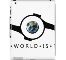 The World Is Flat iPad Case/Skin