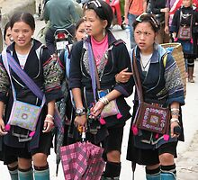 Sapa, Vietnam - Young  Hmong girls by Maureen Keogh