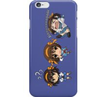 The melancholy of haruhi suzumiya cute chibi anime manga shirt iPhone Case/Skin
