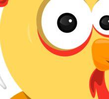 Cartoon Rooster Sticker