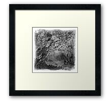 The Atlas of Dreams - Plate 17 (b&w) Framed Print