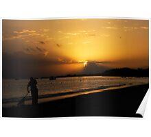 Sunrise Over Montego Bay, Jamaica Poster