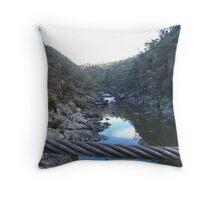 Cable Gorge Trevallyn Gorge, Launceston, Tasmania Throw Pillow