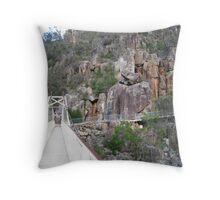 Walking the gorge, Trevallyn Gorge, Launceston, Tasmania Throw Pillow