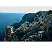 TASMAN PENINSULA ~ Cape Raoul Pointing into the Southern Ocean by tasmanianartist Photographic Print