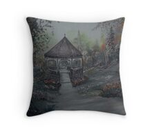 Gazebo in the Spring Garden Throw Pillow