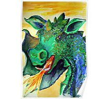 Dragon Green Poster