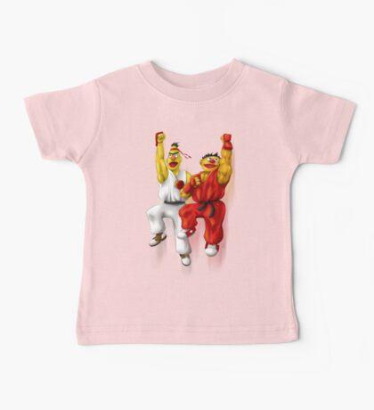 Sesame Street Fighter: Beryu & Kernie Baby Tee