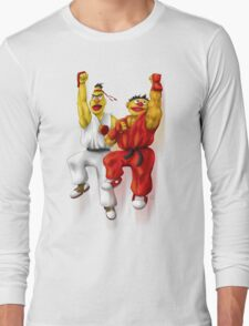 Sesame Street Fighter: Beryu & Kernie Long Sleeve T-Shirt