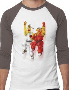 Sesame Street Fighter: Beryu & Kernie Men's Baseball ¾ T-Shirt