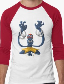 Sesame Street Fighter: Grhalsim Men's Baseball ¾ T-Shirt