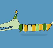 Stripey Mr Crocodile by Carla Martell