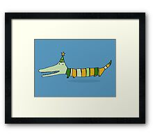 Stripey Mr Crocodile Framed Print