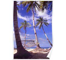 """Caribbean Bliss"" - hammock in the tropics Poster"