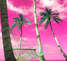 """Happy Hammock"" - tropics in pink by John Hartung"