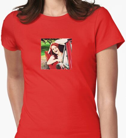 Car Singer Womens Fitted T-Shirt