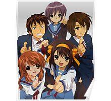 The melancholy of haruhi suzumiya kyon yuki itsuki mikuru anime manga shirt Poster