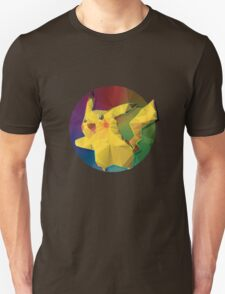Geometric Pikachu [Rainbow] T-Shirt