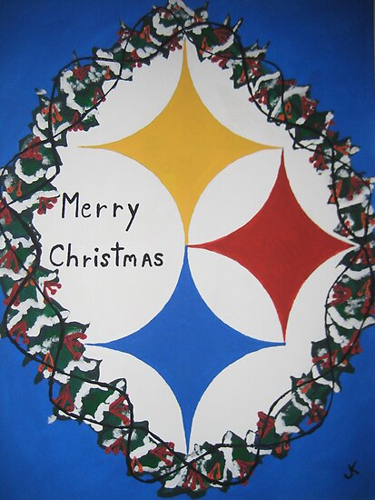 Steelers Christmas Card by JeffreyKoss