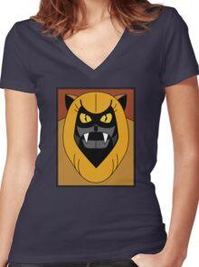 Ookla The Mok - Saturday Morning Cartoon Pop Art Women's Fitted V-Neck T-Shirt