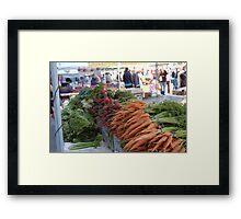 SF Farmers Market Framed Print