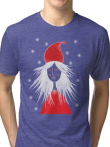 Girl is ready for Christmas. Xmas is here. Christmas fairy Tri-blend T-Shirt