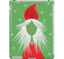Girl is ready for Christmas. Xmas is here. Christmas fairy iPad Case/Skin