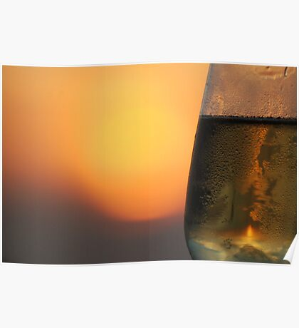 Sunset Bubbly Poster