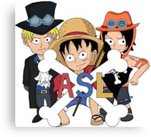 One Piece Luffy Sabo Ace Brothers Canvas Print