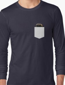 There's a pug in my pocket Long Sleeve T-Shirt