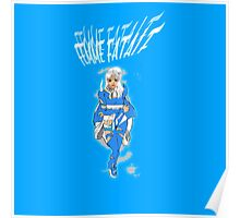 Femme Fatale Bright Blue Poster
