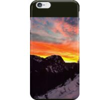 Orange Snowrise iPhone Case/Skin