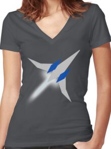 Star Fox -- Arwing Women's Fitted V-Neck T-Shirt