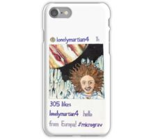 Hello from Europa Original Illustration iPhone Case/Skin