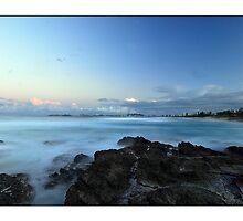 gold coast sunset by stiddy