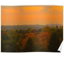 Peach Autumn Sunset Poster