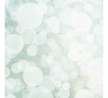 bubbles in green and white Photographic Print