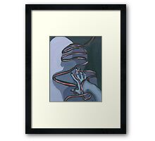Fallen ribbon shadows Framed Print