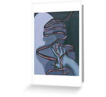 Fallen ribbon shadows Greeting Card