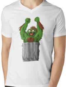 Sesame Street Fighter: Oska Mens V-Neck T-Shirt