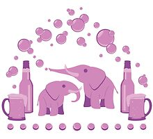 Pink Elephants by LindseyDuce