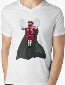 Sesame Street Fighter: Elmo Bison Mens V-Neck T-Shirt
