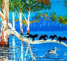 Murray river birds by John Segond